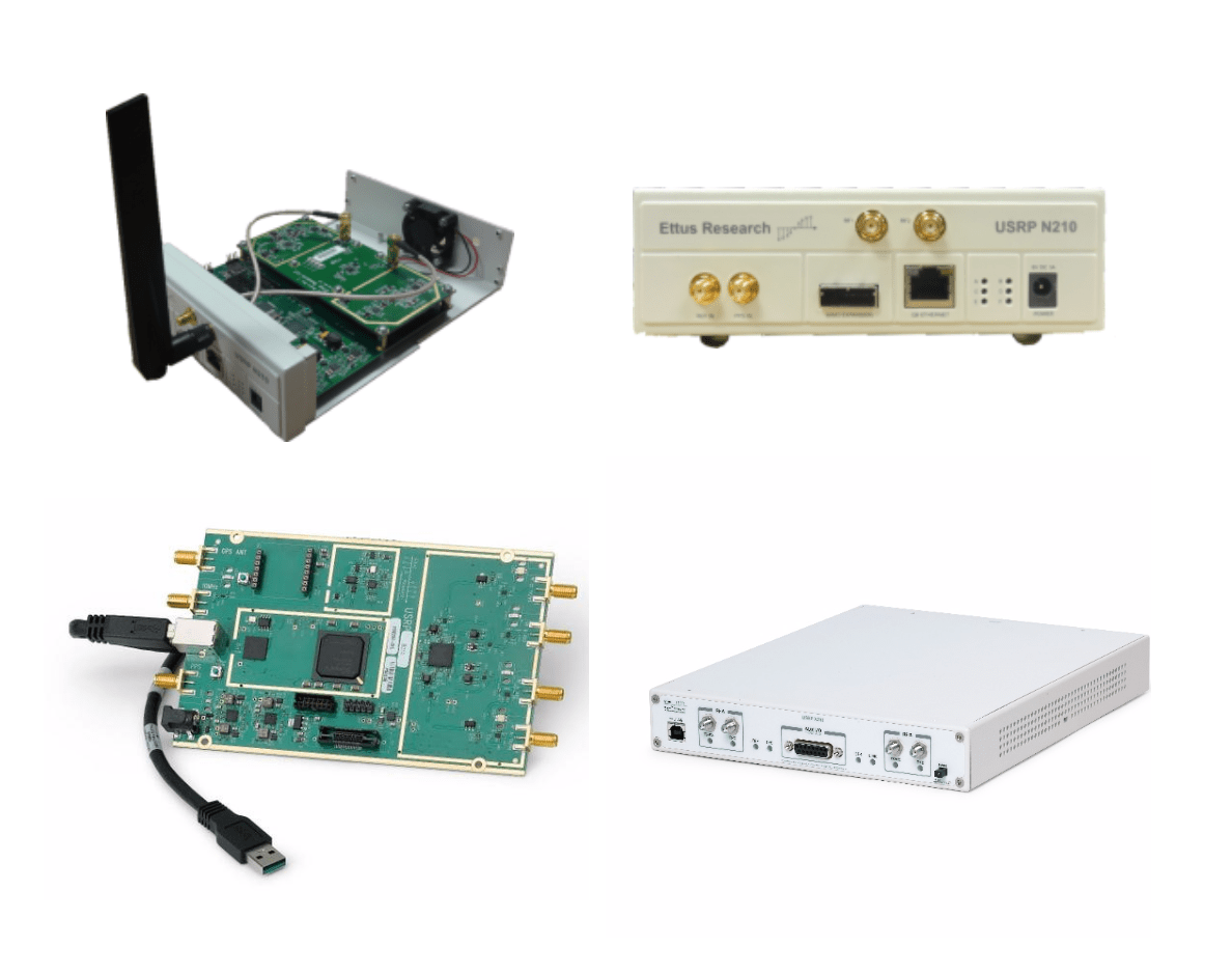 Figure 6: USRP N210 Device (upperside), USRP B210 Device and USRP X310 Device (lowerside)