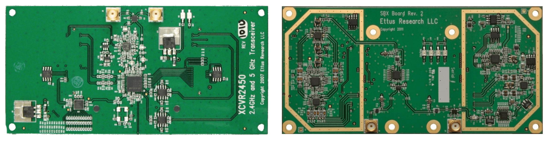 Figure 7: XCVR2450 2.4 GHz-2.5 GHz and SBX 400-4400 MHz Rx/Tx (N210 & X-Series)