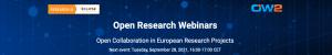 Open Research Webinars @ WEB-STREAMED | TIME CET